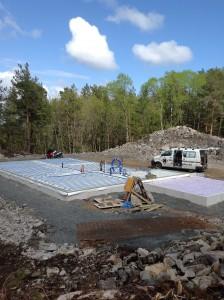 Ferdig installerte kabler for vannbåren gulvvarme i nybygg på Sørlandet